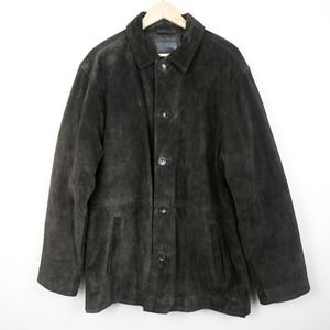 J.Crew Leather Button-Front Trench Coat Winter